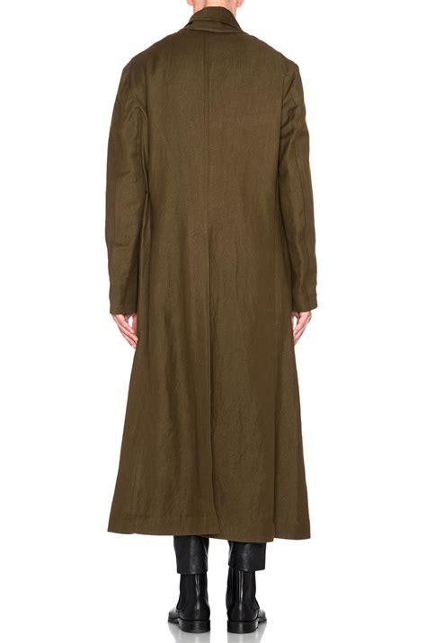 Shawl Collar Coat haider ackermann oversized shawl collar coat in green for