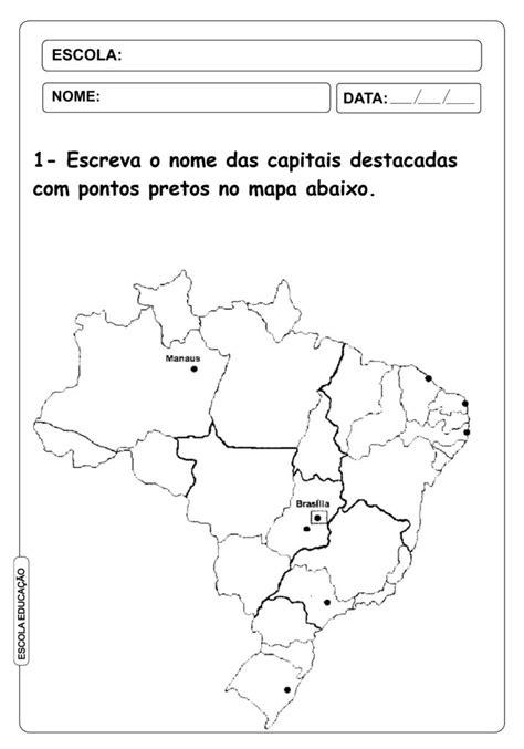 mapa brasil colorir 4 - Escola Educação