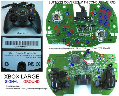 xbox 360 controller pcb diagram xbox 360 controller led