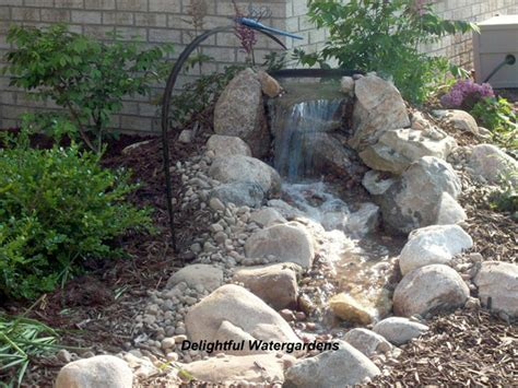 building a backyard waterfall weekend diy backyard water feature willard and may