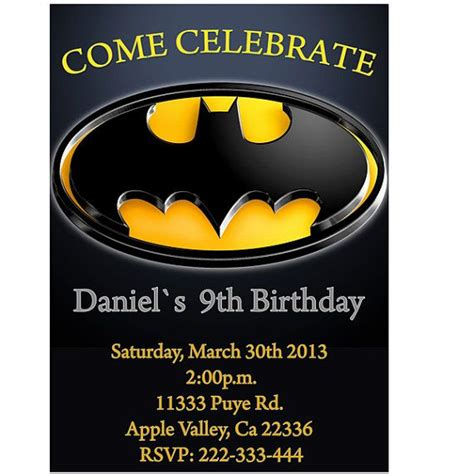 printable birthday invitations batman pinterest the world s catalog of ideas