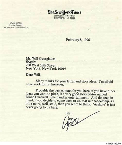 Bad News Letter Rejection 7 best rejection letters of all time