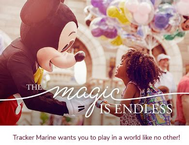Disney World Vacation Sweepstakes - tracker marine dream vacation sweepstakes win disney world trip
