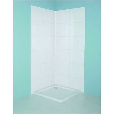 wickes bathrooms showers wickes tile panel kit white 820x1900mm wickes co uk
