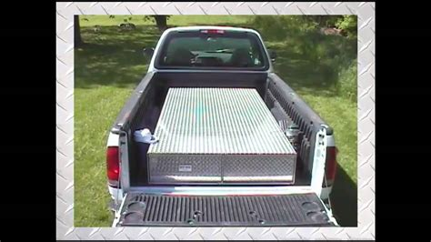 truck bed tool chest truck bed tool boxes the ultimate truck tool box youtube