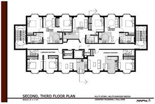 Awesome House Blueprints 14 small apartment building floor plans electrohome info