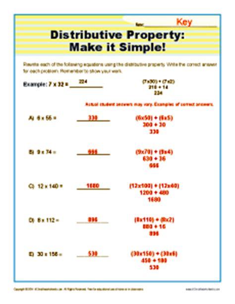 distributive property worksheet 6th grade worksheets for