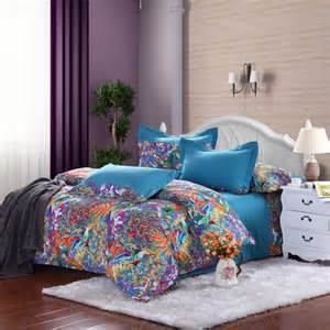 Royal Blue Bedding Royal Blue Purple And Orange Tropical Hawaiian Themed