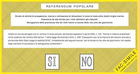 mininterno dell interno sondaggio sul referendum