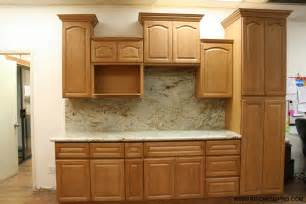 golden oak kitchen cabinets and bathroom vanities