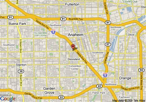 where is anaheim california on the map map of travelodge anaheim anaheim