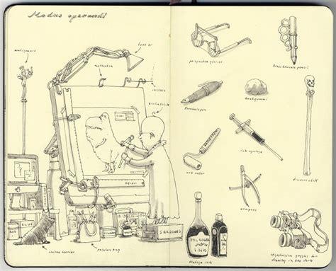 sketchbook illustration mattias adolfsson sketchbooks21 fubiz media