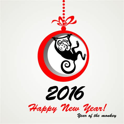 new year 2016 monkey masks 2016 the monkey new year design vector 05 vector