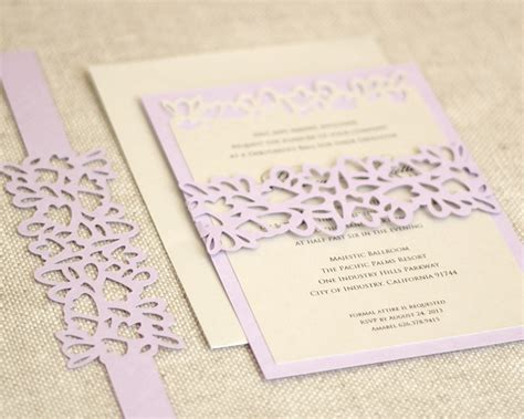 Petal Papers Wedding Invitations by Petal Cutout Invitations Timeless Paper