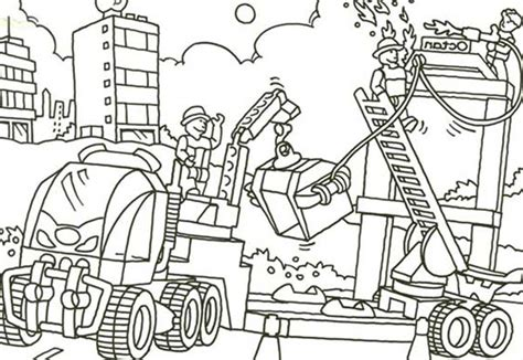 lego duplo construction worker coloring pages batch