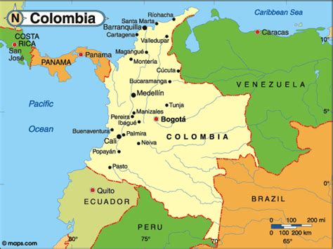 map of columbia south america map of columbia maps columbia south