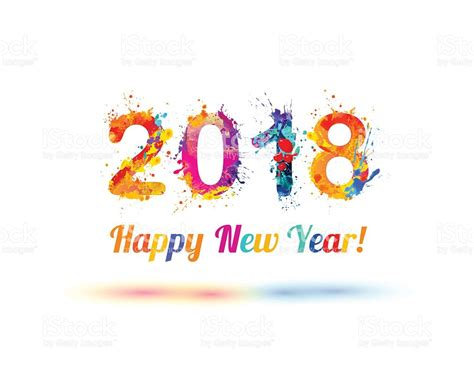 new year 2018 vector happy new year 2018 stock vector 636546872 istock