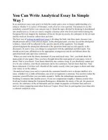 An Essay On How To Write An Essay by You Can Write Analytical Essay In Simple Way