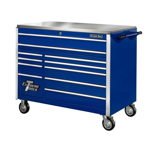 Husky 52 In 13 Drawer And 1 Door Tool Chest And Cabinet by Husky 52 In 11 Drawer Mobile Workbench With Solid Wood