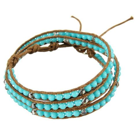cord and bead bracelet buy multilayer turquoise bead leather cord wrap
