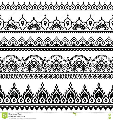 mehndi indian henna tattoo seamless pattern design