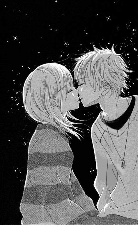 anime couples kissing sketches cute anime love kiss images pictures becuo romance