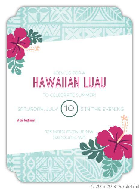 hawaiian birthday card template luau fill in the blank invite blank invitations