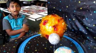 Grade three science project earth moon amp sun youtube