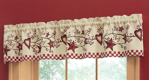 hearts and kitchen collection country window valance inhand kitchen berry