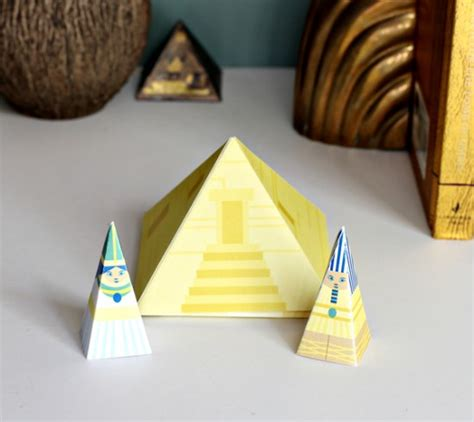 Paper Pyramid Craft - pyramid diy playset crafts for