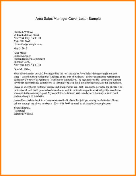 Sle Of A Cover Letter For Application 9 application letter for sales manager ledger paper