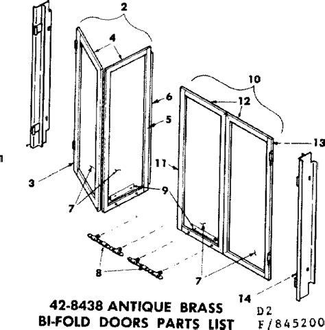 Bi Fold Door Diagram Parts List For Model 155845200 Fireplace Glass Door Replacement Parts