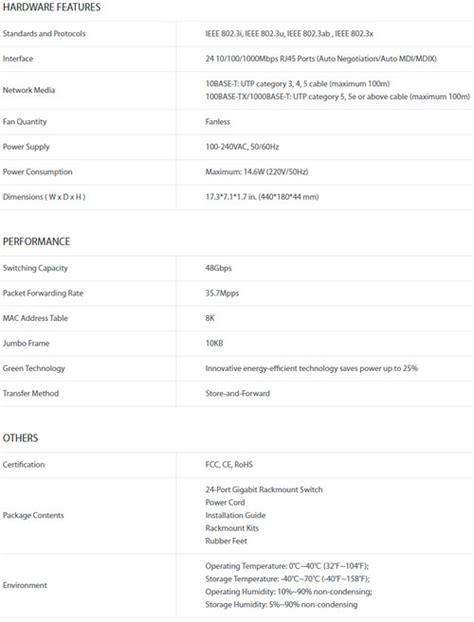 Harga Tp Link Sg1024 jual tp link tl sg1024 harga bersaing spesifikasi