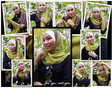Kerudung Segi Empat Glitter cara memakai jilbab muslimah cara memakai modif pashmina