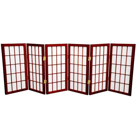 Paper Screens - shop furniture window pane 6 panel rosewood paper