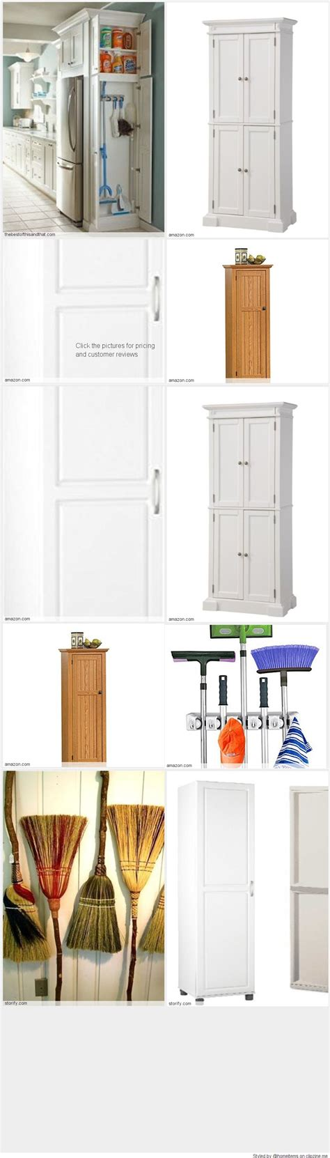 Broom Storage Cabinet Free Standing Broom Closet Cabinet For The Kitchen Or Garage Free Standing Broom Closet
