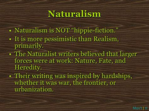 themes in naturalism literature american realism lecture powerpoint