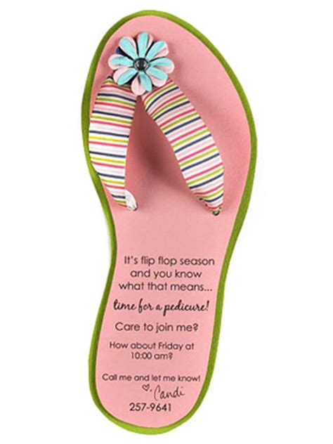 Scrapbooking Flip Flop Card Template