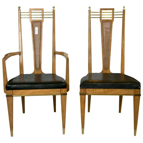 Set Of Six Metz Custom Dining Chairs Mid Century Modern Custom Dining Room Furniture