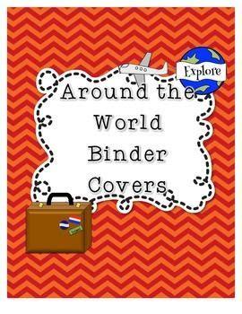 Classroom Decor Themes Around The World Travel Themed Binder Covers Binder
