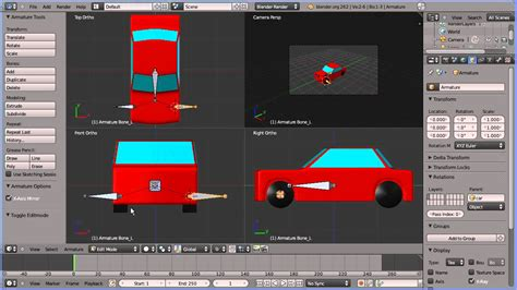 tutorial blender armature blender 2 6 tutorial adding an armature to the model of a