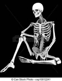 Cool Small House Plans drawing of spooky a skeleton in a pose csp10012241