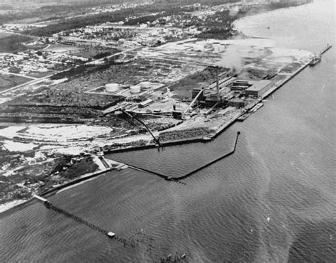 Port St Court Records Florida Memory Aerial View Of The St Joe Paper Company Port Joe Florida