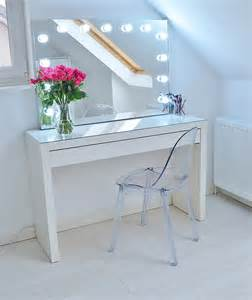 Ikea Vanity Cart Makeup Storage Ideas Ikea Malm Makeup Vanity With Mirror