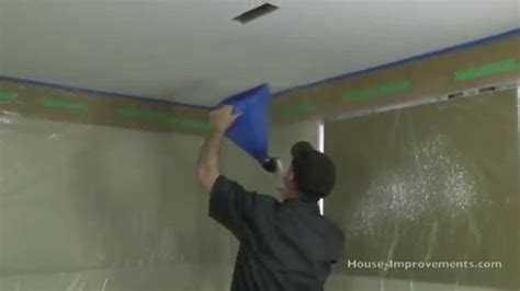 How To Spray Popcorn Ceiling by How To Apply Spray Ceiling Texture