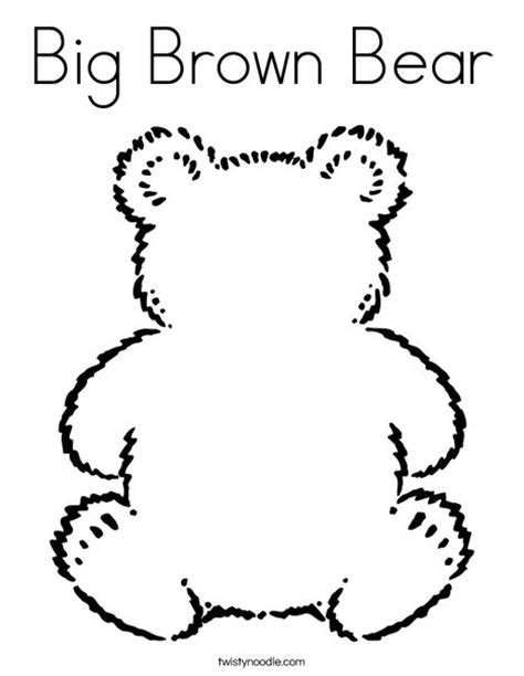 printable coloring pages for brown bear brown bear big brown bear coloring page twisty noodle
