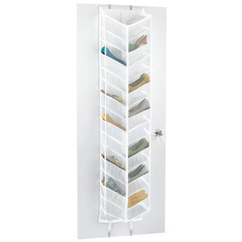 shoe storage door 30 pair overdoor shoe organizer the container store