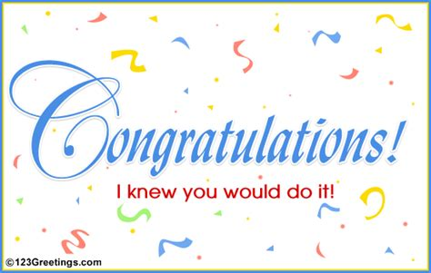 free success card templates warm greetings and wishes congratulations on success
