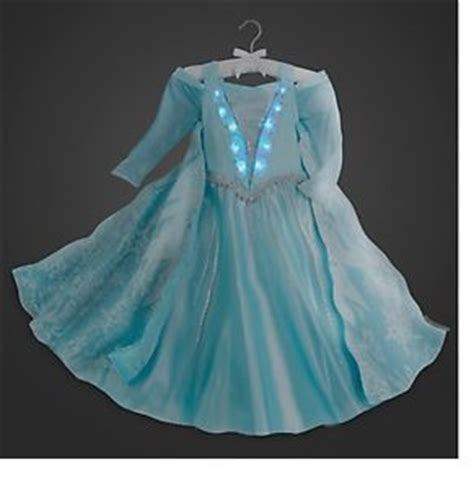 Disney Store Usa Authentic Frozen Costume Kostum disney store authentic frozen elsa deluxe light up costume dress size 8 10 nwt ebay