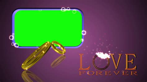 wedding rings green screen forever background